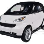 2007 Smart For Two White/Black 1/18 Diecast Car Model by Minichamps