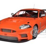 2008 Jaguar XKR GT3 Orange 1/18 Diecast Car Model by Minichamps