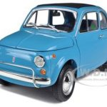 1968 Fiat 500L Blue 1/18 Diecast Car Model by Minichamps