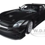 2011 Mercedes SLS AMG GT3 Street Version Matt Black 1/18 Diecast Model Car by Minichamps