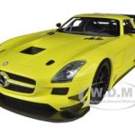 2011 Mercedes SLS AMG GT3 Street Version Yellow 1/18 Diecast Model Car by Minichamps