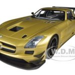2011 Mercedes SLS GT3 Street Version Matt Gold Ltd to 1000pc 1/18 Diecast Model Car by Minichamps