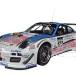 Porsche 911 GT3 R #123 Muehlner Motorsport Fumal/Thiry/Rosenblad/Lefort 24H SPA 2011 1/18 Diecast Model Car by Minichamps