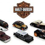 Harley-Davidson Assortment Wave 1 6 Cars Set 1/64 Diecast Model Cars by Maisto