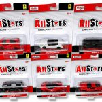 All Stars Ferrari Assortment 6 Cars Set 1/64 Diecast Model Cars by Maisto