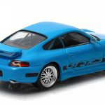 Brians 2001 Porsche 911 Carrera Gt3 RS Blue The Fast and The Furious Fast Five Movie (2011) 1/43 Diecast Model Car by Greenlight
