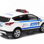 2014 Ford Escape New York Police Department (NYPD) Car In Display Showcase 1/43 Diecast Model Car by Greenlight
