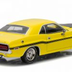 1970 Dodge Challenger R/T Yellow with Black Stripes 1/43 Diecast Model Car by Greenlight