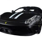 Ferrari 458 Matt Black Speciale Signature Series 1/18 Diecast Model Car by Bburago