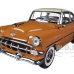 1954 Chevrolet Bel Air Hard Top Pueble Tan / India Ivory 1/18 Diecast Car Model by Sunstar