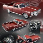 1965 Chevrolet El Camino L-79 Madeira Maroon Limited to 300pc 1/18 Diecast Model Car by Acme