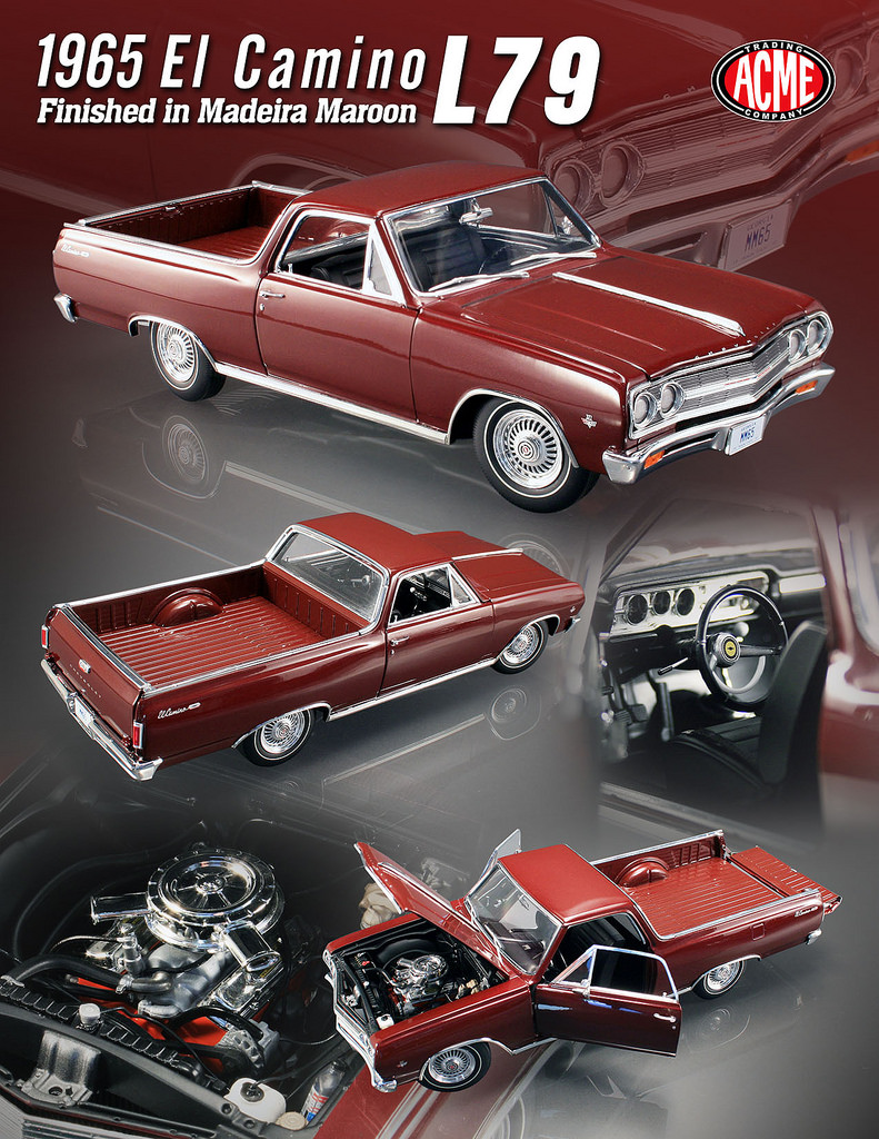 1965 Chevrolet El Camino L 79 Madeira Maroon Limited To 300pc 1 18 1954 17161577907 86498b243b B 84509