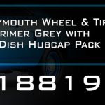 Plymouth Wheels and Tires Set of 4 in Primer Grey with Dog Dish Hubcap Pack 1/18 by GMP