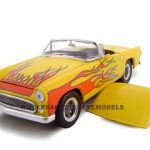 1956 Ford Thunderbird Yellow Street Rod 1/24 Diecast Model by Unique Replicas