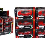 6 Pieces Ferrari Assortment Set B 1/43 Diecast Model Cars by Bburago