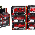 6 Pieces Ferrari Assortment Set C 1/43 Diecast Model Cars by Bburago
