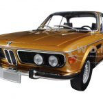 1972 BMW 3.0 CSI (E9) Coupe Gold Metallic Limited Edition to 504pcs 1/18 Diecast Model Car by Minichamps