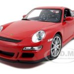 Porsche 911 (997) GT3 Red 1/18 Diecast Car Model by Welly