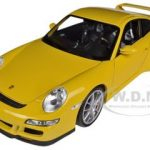 Porsche 911 (997) GT3 Yellow 1/18 Diecast Car Model by Welly