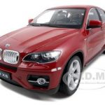 2011 2012 BMW X6 Red 1/18 Diecast Car Model by Welly