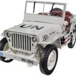 1/4 Ton UN WW 2 Jeep Beige 1/18 Diecast Jeep Model by Welly