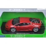 Lamborghini Huracan LP 610-4 Red 1/18 Diecast Model Car by Welly