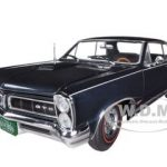 1965 Pontiac GTO Black Pearl Irid 1/18 Diecast Car Model by Sunstar