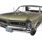 1965 Pontiac GTO Capri Gold 1/18 Diecast Car Model by Sunstar
