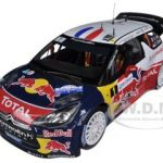 Citroen DS3 #1 WRC World Champion Rally France Winner 2012 Loeb / Elena Red Bull 1/18 Diecast Car Model by Norev