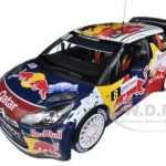Citroen DS3 #8 WRC Rally France 2012 Neuville / Gilsoul Red Bull 1/18 Diecast Car Model by Norev