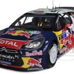 Citroen DS3 #1 WRC Winner Rally Mexico 2011 Loeb/Elena Red Bull 1/18 Diecast Model Car by Norev