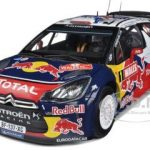 Citroen DS3 #1 WRC World Champion Rally Great Britain 2011 Loeb/Elena Red Bull 1/18 Diecast Model Car by Norev