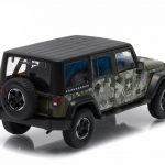 2014 Jeep Wrangler Unlimited U.S. Army Hard Top Dark Green With Display Showcase 1/43 Diecast Model Car by Greenlight