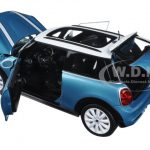 2015 Mini Cooper S Light Blue and White 1/18 Diecast Model Car  by Norev