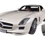 2011 Mercedes SLS AMG Roadster Pearl White 1/18 Diecast Car Model by Norev
