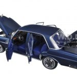 1968 Mercedes 280 SE Dark Blue Metallic 1/18 Diecast Model Car by Norev