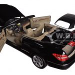 2010 Mercedes E Class E500 Cabriolet Black with Cream Interior 1/18 Diecast Model Car by Norev