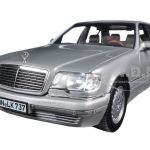 1997 Mercedes S600 Pearl Light Grey Metallic 1/18 Diecast Model Car by Norev
