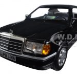 1990 Mercedes 300 CE 24 Cabriolet Black 1/18 Diecast Model Car by Norev