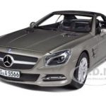 2012 Mercedes Sl Class SL 500 Matt Grey 1/18 Diecast Car Model by Norev