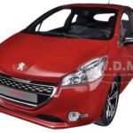 2013 Peugeot 208 GTI Red 1/18 Diecast Car Model by Norev