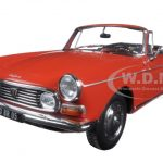 1967 Peugeot 404 Cabriolet Capanelle Red 1/18 Diecast Model Car by Norev