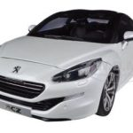 2012 Peugeot RCZ Pearl White 1/18 Diecast Car Model by Norev