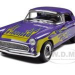 1956 Ford Thunderbird Street Rod Purple 1/24 Diecast Model Car by Unique Replicas