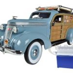 1937 Studebaker Woody Wagon Blue 1/24 Diecast Car Model by Unique Replicas