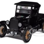1925 Ford Model T Closed Convertible Pickup Truck Black 1/24 Diecast Model Car by Sunstar
