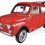 1960 Fiat 500 Jardiniere Red 1/18 Diecast Car Model by Norev