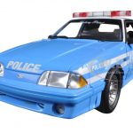 1988 Ford Mustang GT New York Police Department (NYPD) Street Patrol Police Car Limited Edition to 600pcs 1/18 Diecast Model Car by GMP