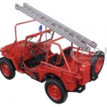 1988 Fire Department Jeep Vehicle 1/18 Diecast Model Car by Norev