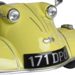 Messerschmitt KR200 Bubble Car Yellow 1/18 Diecast Model Car by Oxford Diecast